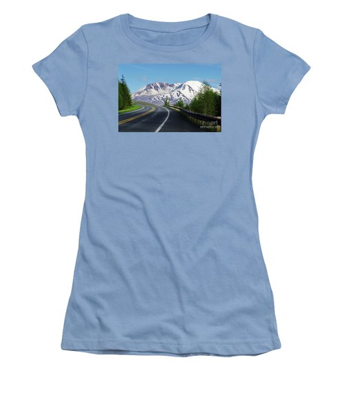 Spirit Lake Highway To Mt. St. Helens Women's T-Shirt (Athletic Fit)
