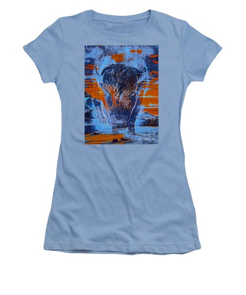 Spirit Of The Buffalo Women's T-Shirt (Athletic Fit)