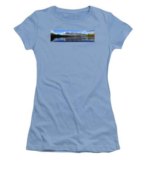 Splendid Autumn View Panoramic Women's T-Shirt (Athletic Fit)