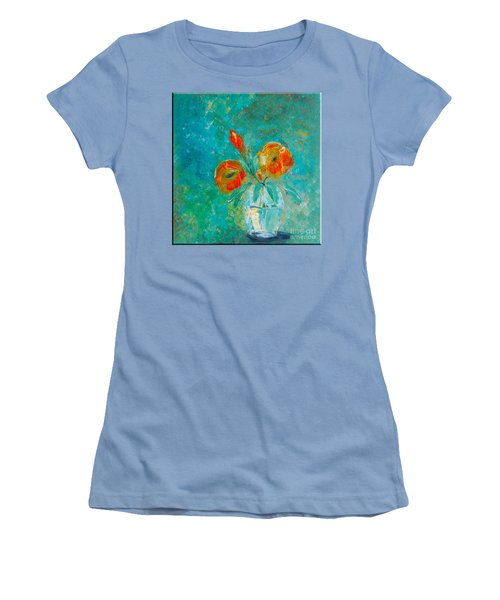 Palette Knife Floral Women's T-Shirt (Athletic Fit)