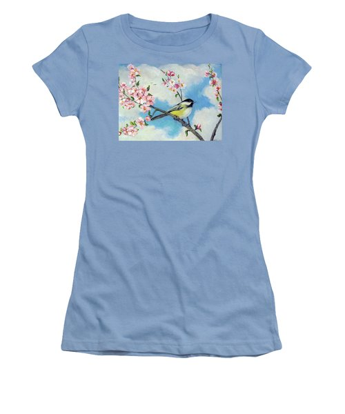 Women's T-Shirt (Junior Cut) featuring the painting Spring's Promise by Donna Tucker