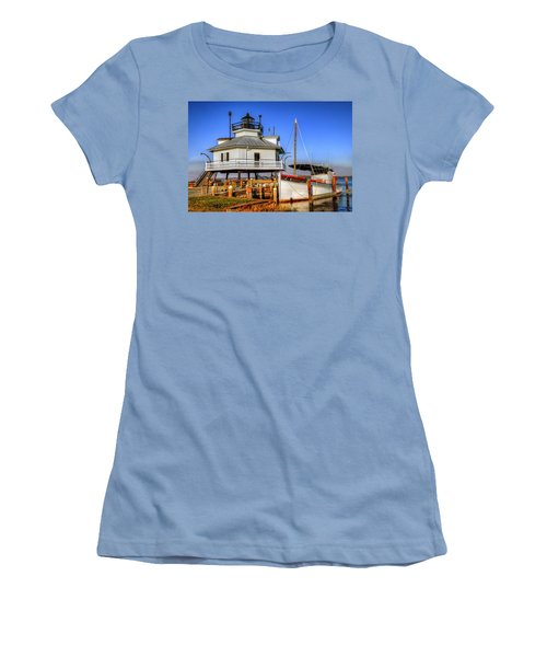 St Michaels Lighthouse Women's T-Shirt (Junior Cut) by Dave Mills