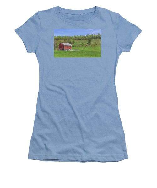 Star And Moon Barn Women's T-Shirt (Athletic Fit)