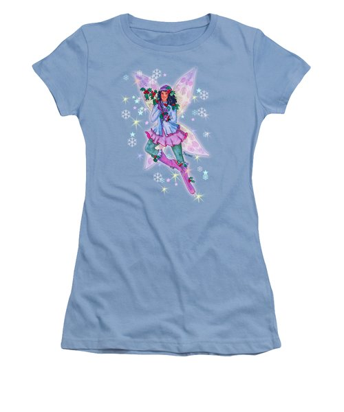 Starr Lynn Holliday Fairy Women's T-Shirt (Junior Cut) by Teresa Ascone