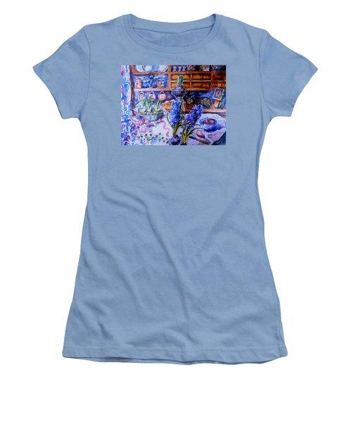 Still Life With Hyacinths  Women's T-Shirt (Junior Cut) by Trudi Doyle