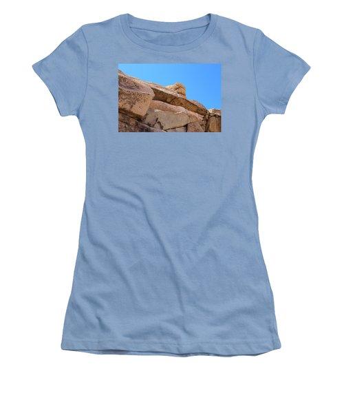 Women's T-Shirt (Junior Cut) featuring the photograph Stone  Arch In Joshua Tree by Viktor Savchenko