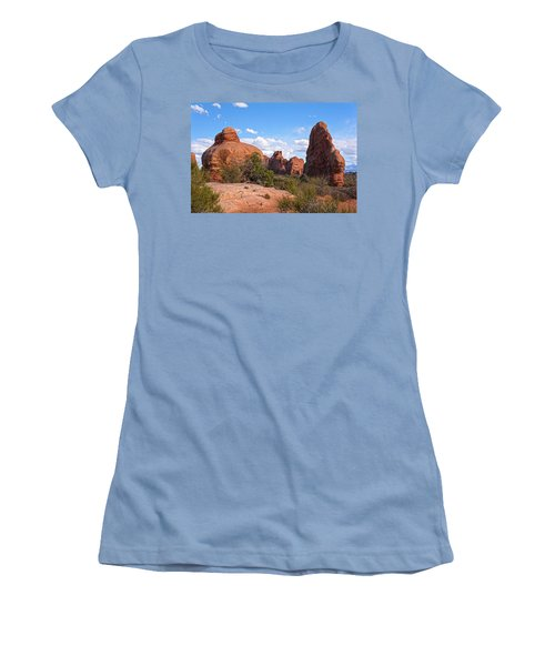 Stone Gods 0f Arches Women's T-Shirt (Junior Cut) by Angelo Marcialis