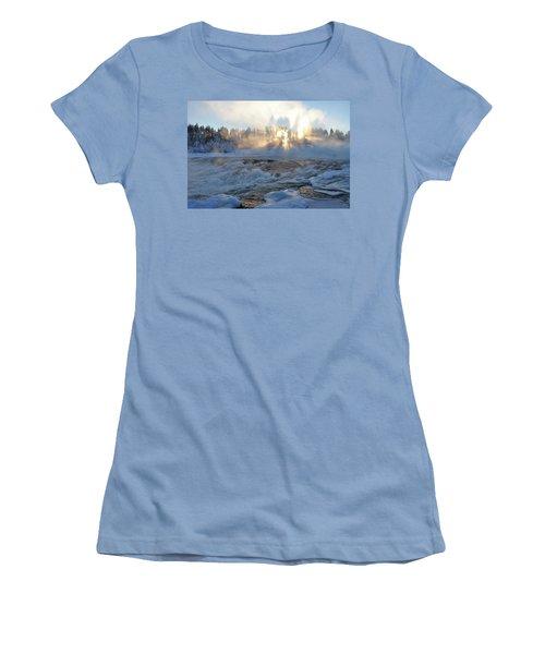 Storforsen, Biggest Waterfall In Sweden Women's T-Shirt (Athletic Fit)