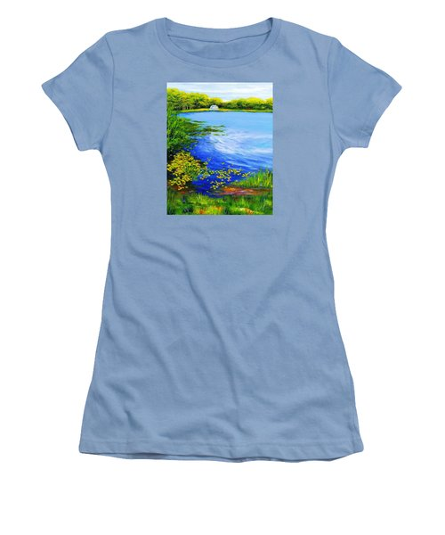 Summer At The Lake Women's T-Shirt (Junior Cut) by Anne Marie Brown