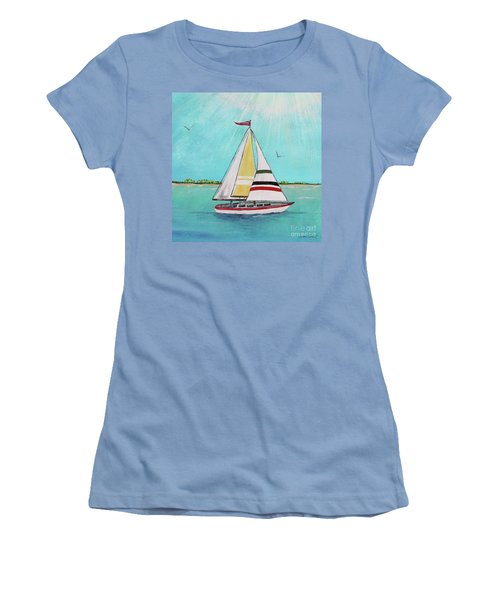 Women's T-Shirt (Junior Cut) featuring the painting Summer Breeze-d by Jean Plout