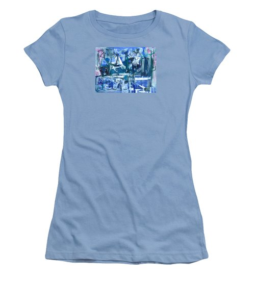 Women's T-Shirt (Junior Cut) featuring the painting Summer Coming Down Final Version by Betty Pieper