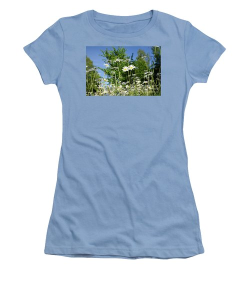Women's T-Shirt (Athletic Fit) featuring the photograph Summer Flowers by Kennerth and Birgitta Kullman