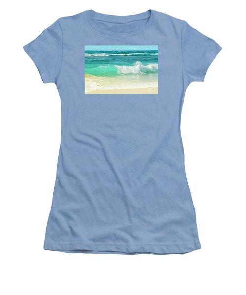 Women's T-Shirt (Junior Cut) featuring the photograph Summer Sea by Sharon Mau