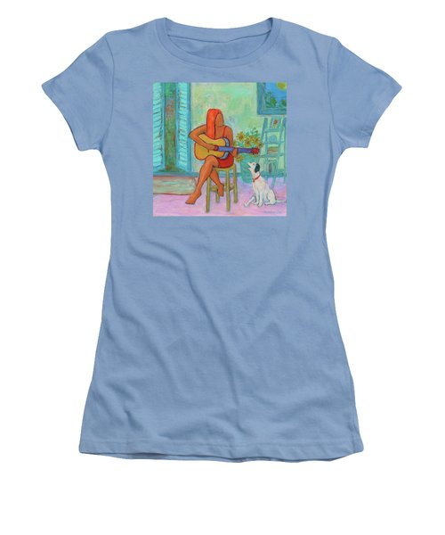 Women's T-Shirt (Athletic Fit) featuring the painting Summer Serenade II by Xueling Zou