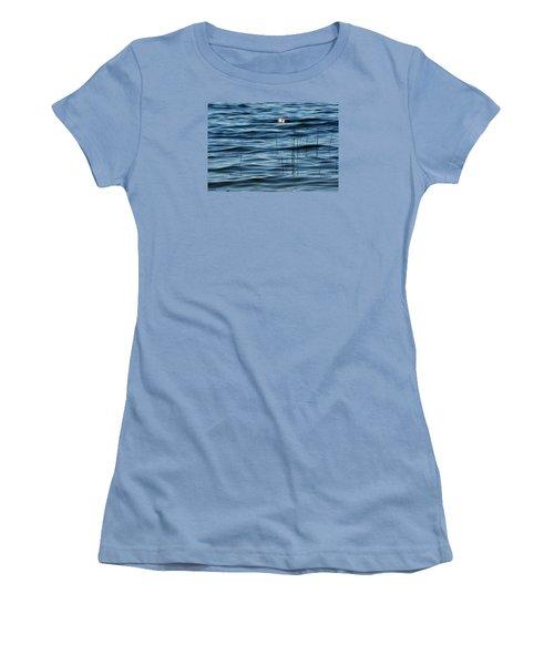 Women's T-Shirt (Junior Cut) featuring the photograph Sun Glints 2  by Lyle Crump
