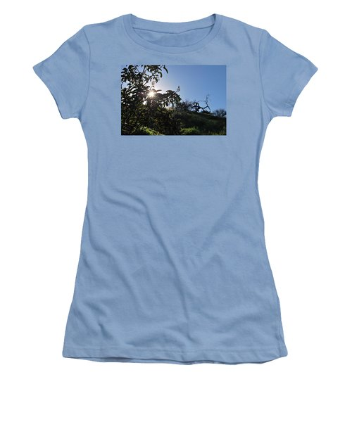 Women's T-Shirt (Athletic Fit) featuring the photograph Sun Shines Through The Greenery by Matt Harang