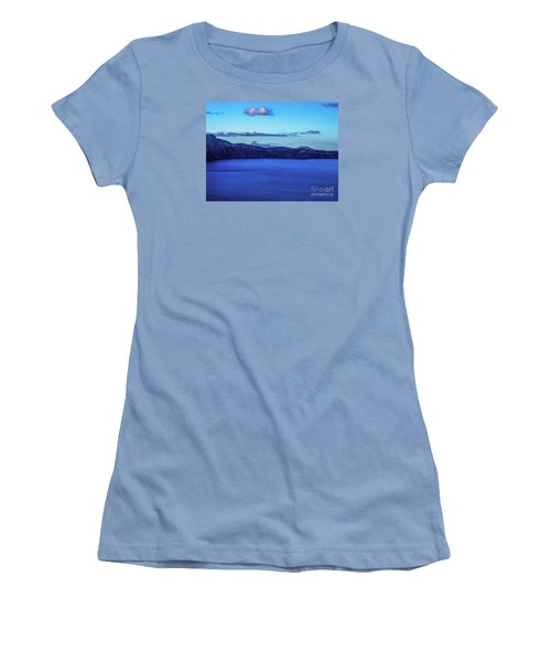 Women's T-Shirt (Junior Cut) featuring the photograph Sundown At Crater Lake by Nancy Marie Ricketts