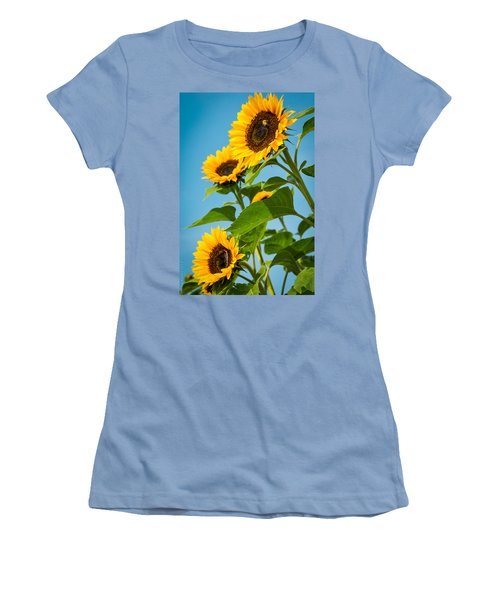 Sunflower Morning Women's T-Shirt (Athletic Fit)