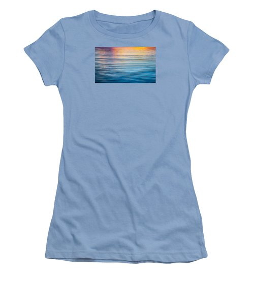 Sunrise Abstract On Calm Waters Women's T-Shirt (Junior Cut) by Parker Cunningham