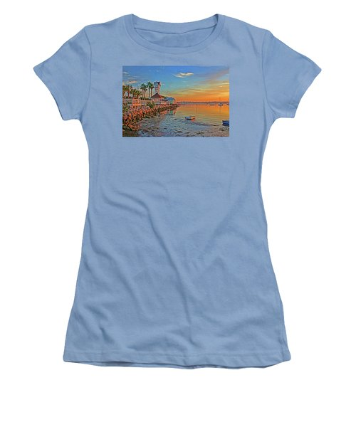 Sunrise At The Pier Women's T-Shirt (Athletic Fit)