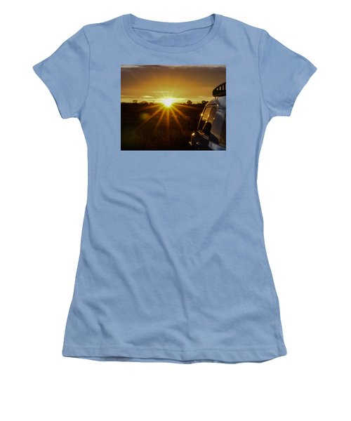 Sunrise And My Ride Women's T-Shirt (Junior Cut) by Jeremy McKay