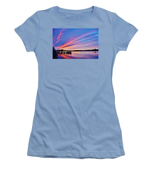 Sunrise Reflecting Women's T-Shirt (Athletic Fit)