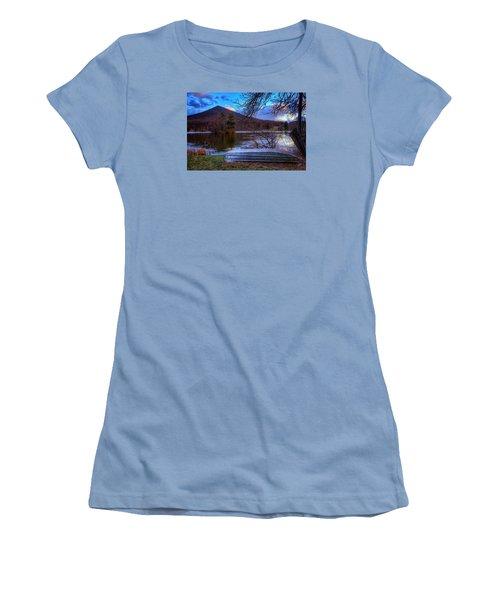 Sunset At Abbott Lake Women's T-Shirt (Junior Cut) by Steve Hurt