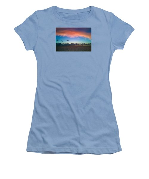 Sunset At Sea Women's T-Shirt (Athletic Fit)