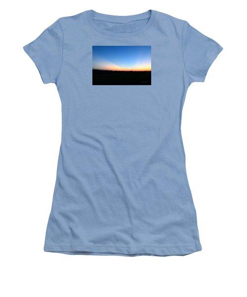Sunset Blue Women's T-Shirt (Athletic Fit)