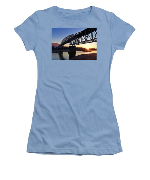 Fraser River, Bc  Women's T-Shirt (Junior Cut) by Heather Vopni