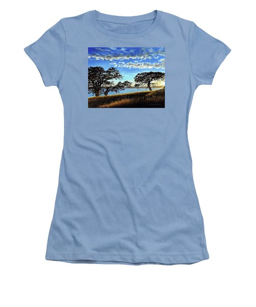 Sunset In Lucerne Women's T-Shirt (Junior Cut) by Linda Becker