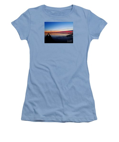 Sunset On The Shore Of Southend Women's T-Shirt (Athletic Fit)