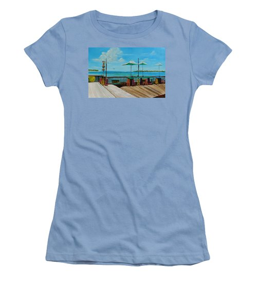 Sunset Pier Tiki Bar - Key West Florida Women's T-Shirt (Athletic Fit)
