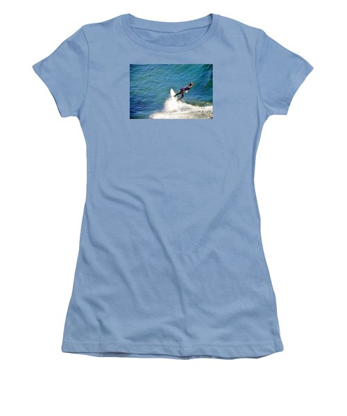 Surfer, Steamer Lane, Santa Cruz, Series 19 Women's T-Shirt (Junior Cut) by Antonia Citrino