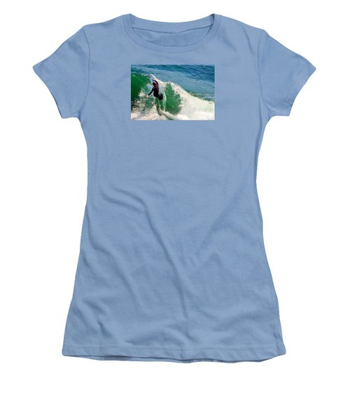 Surfer, Steamer Lane, Series 18 Women's T-Shirt (Junior Cut) by Antonia Citrino