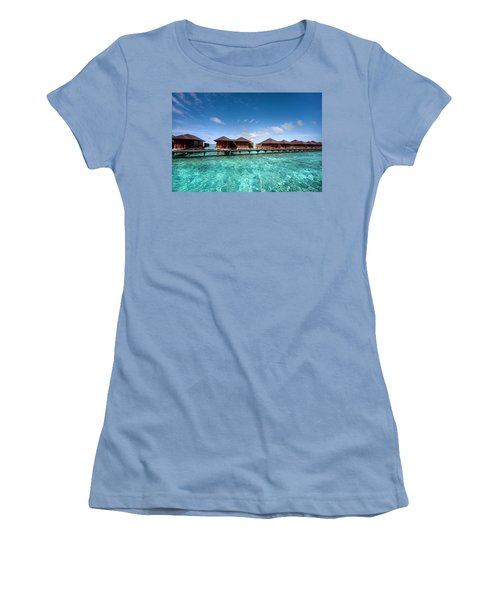 Women's T-Shirt (Junior Cut) featuring the photograph Surrounded By Blue by Jenny Rainbow