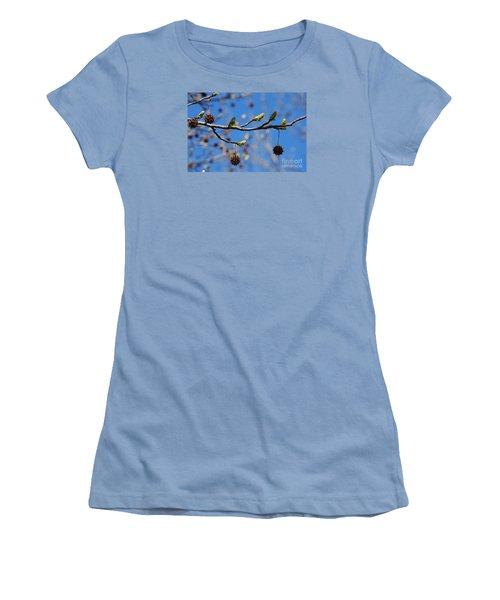 Sweet Gum Catkins 20120405_206a Women's T-Shirt (Junior Cut) by Tina Hopkins