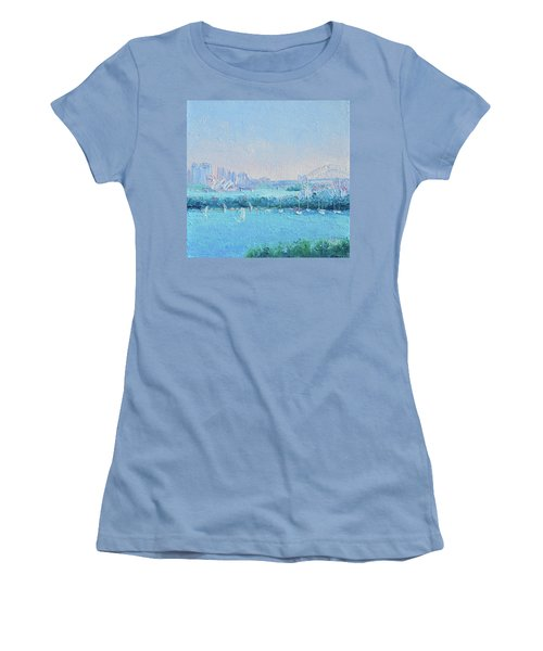 Sydney Harbour And The Opera House Women's T-Shirt (Junior Cut) by Jan Matson