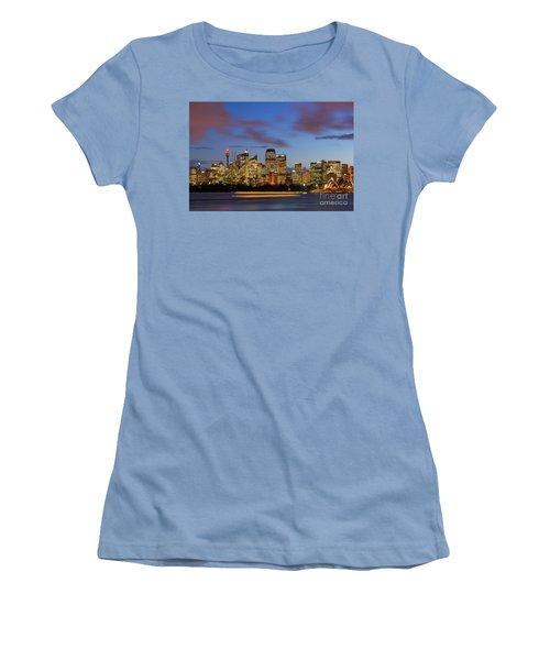 Sydney Harbour Sunset Women's T-Shirt (Athletic Fit)