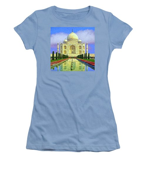 Taj Mahal Morning Women's T-Shirt (Junior Cut) by Dominic Piperata