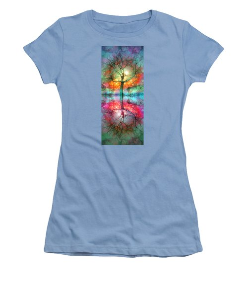Women's T-Shirt (Junior Cut) featuring the digital art Take The Light This Life Has To Offer by Tara Turner