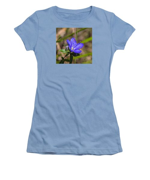 Tall Hydrolea Wildflower Women's T-Shirt (Junior Cut) by Christopher L Thomley