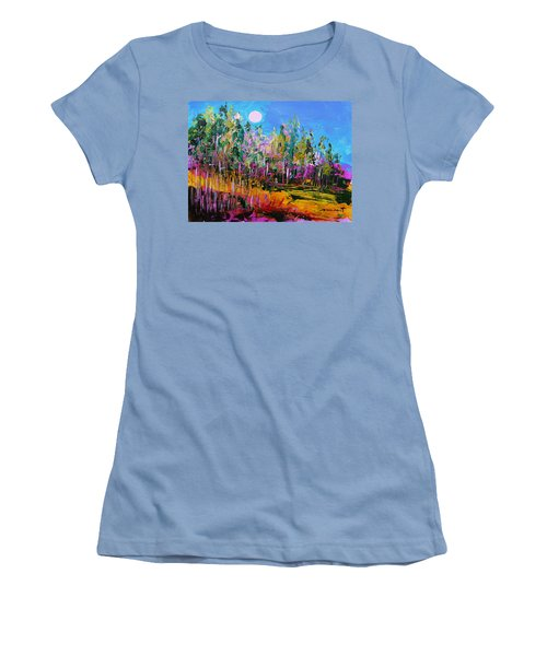 Women's T-Shirt (Junior Cut) featuring the painting Tall Left And Front by John Williams