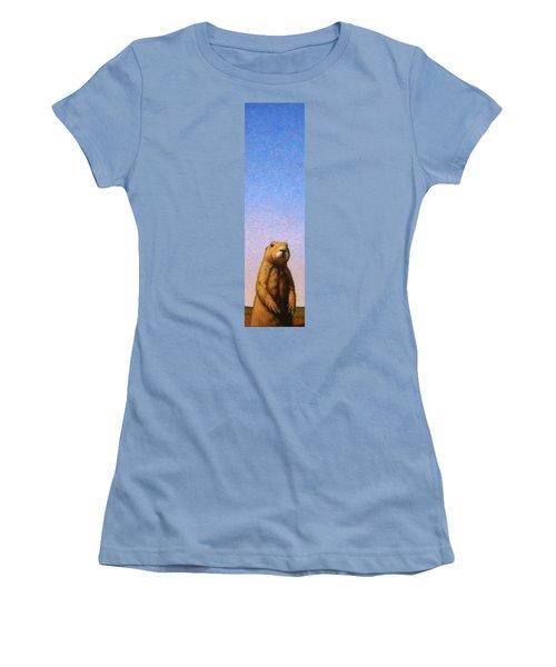 Tall Prairie Dog Women's T-Shirt (Junior Cut) by James W Johnson