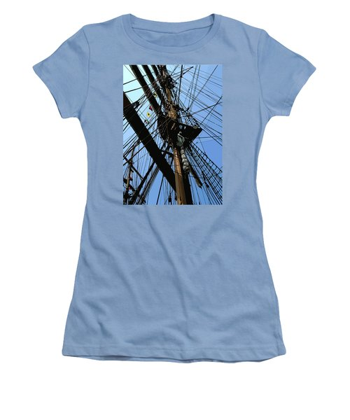Tall Ship Design By John Foster Dyess Women's T-Shirt (Athletic Fit)