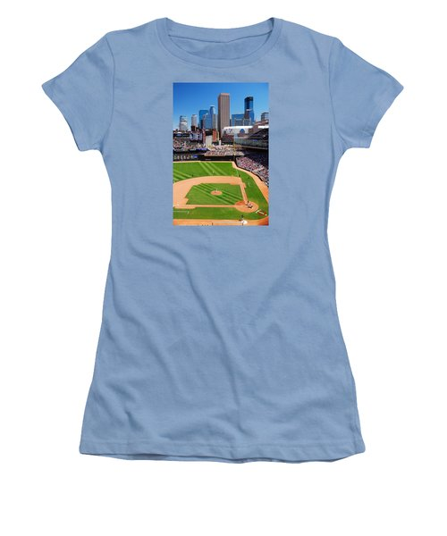 Target Field, Home Of The Twins Women's T-Shirt (Junior Cut)