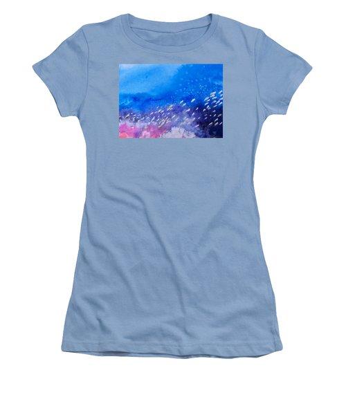 Women's T-Shirt (Junior Cut) featuring the painting Tavu Na  Siki by Ed Heaton