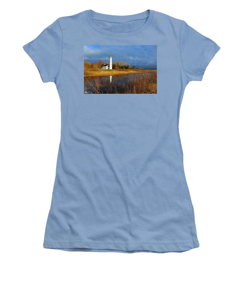 Sturgeon Point Lighthouse Women's T-Shirt (Athletic Fit)