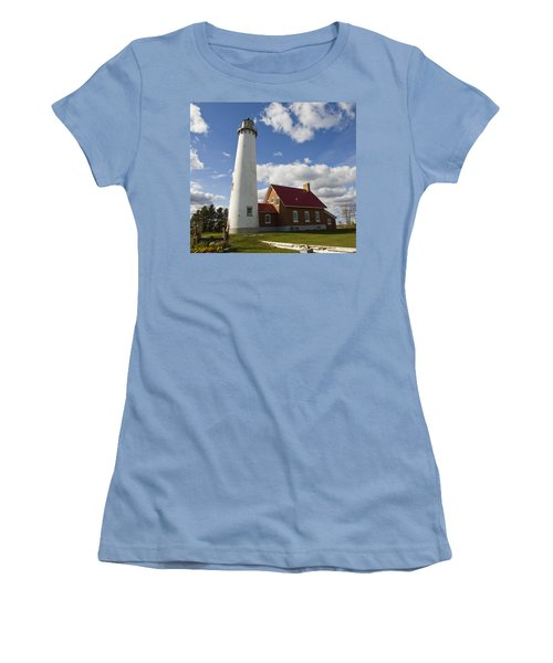 Tawas Point Lighthouse Women's T-Shirt (Athletic Fit)