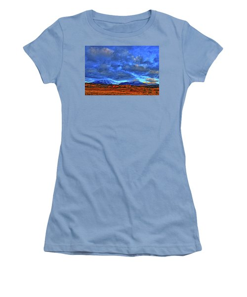 Women's T-Shirt (Junior Cut) featuring the photograph Ten Mile Of Fall Colors by Scott Mahon